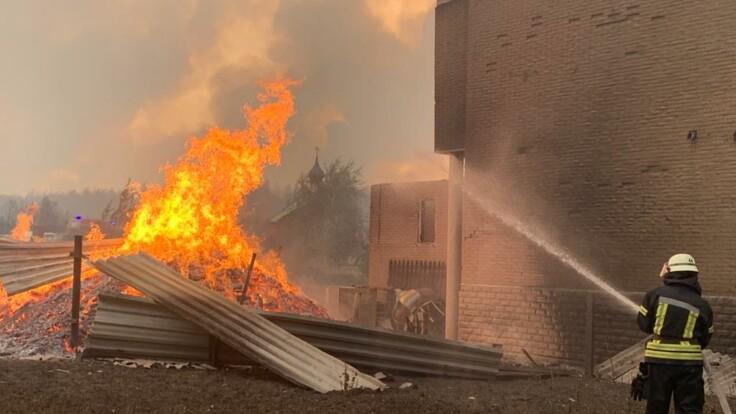 Пожар на Луганщине мешают тушить боевики: подробности