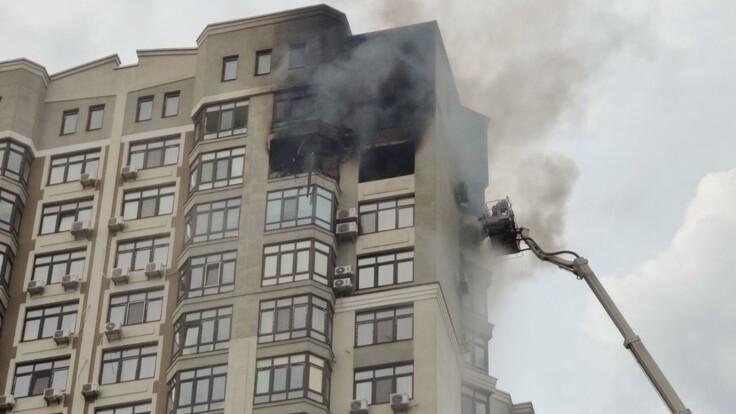 В Киеве горела элитная высотка, есть погибший: подробности