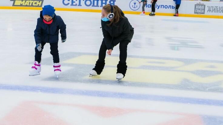 Спортивный праздник в Мариуполе: как с Зеленским открывали ледовую арену