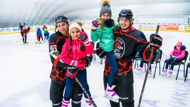 Благодійники організували безкоштовне катання в Mariupol Ice Center для тисячі дітей